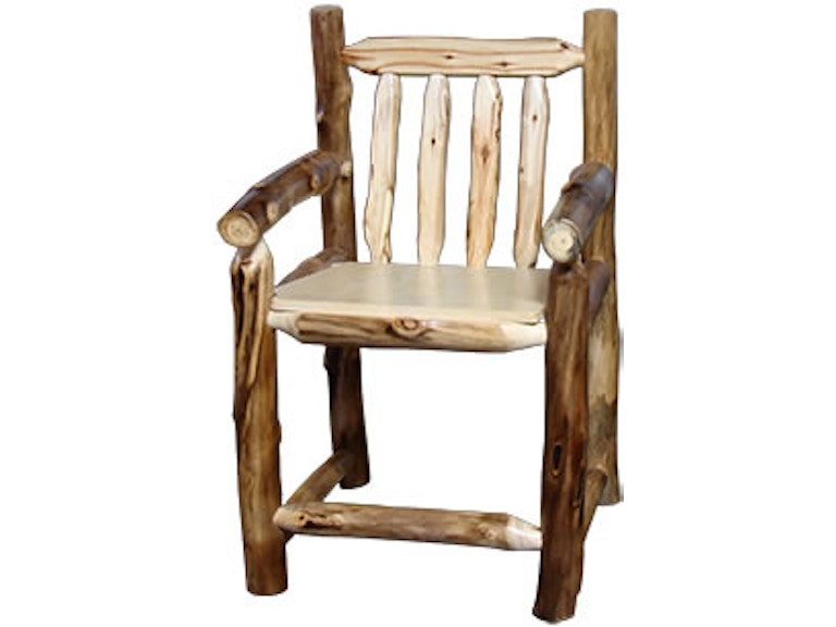 Rustic Log Living Room Captain\'s Bar Chair (24H Seat) in ...