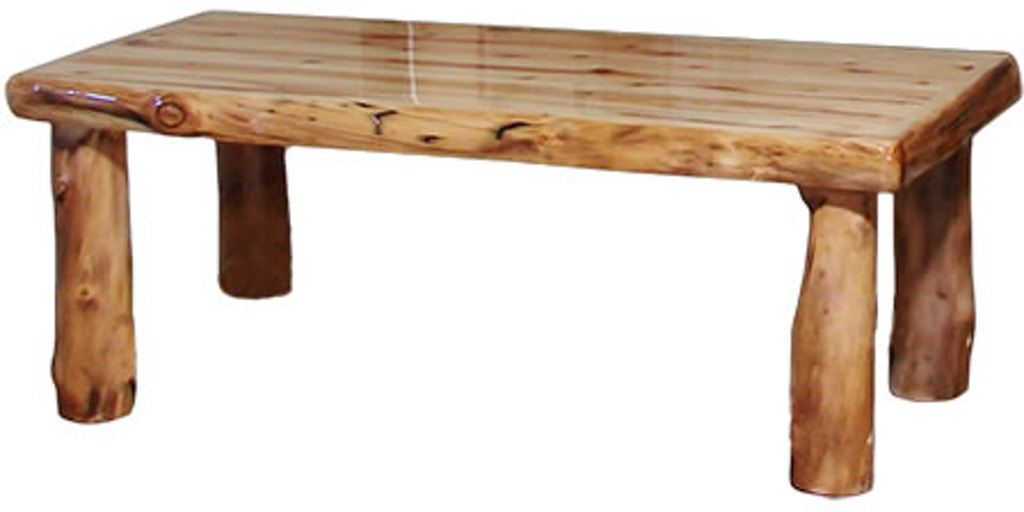 Rustic Log Living Room Coffee Table 48w In Wild Panel Natural