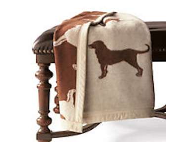 Traditions Linens Chocolate Lab Throw Chocolate Lab Throw