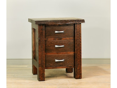 Ruff Sawn Live Edge Night Stand LEND3126