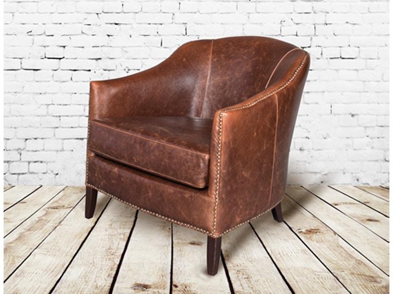 Alder and Tweed Living Room Antique Saddle Leather Madison ...