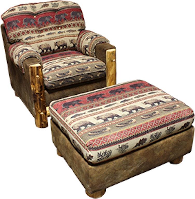 Astonishing Rustic Log Living Room Mountain Comfort Chair Ottoman In Dailytribune Chair Design For Home Dailytribuneorg