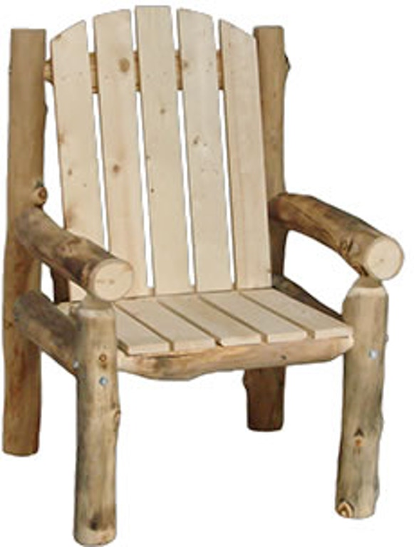 Rustic Log Outdoor/Patio Outdoor Chair (28W) in Natural ...