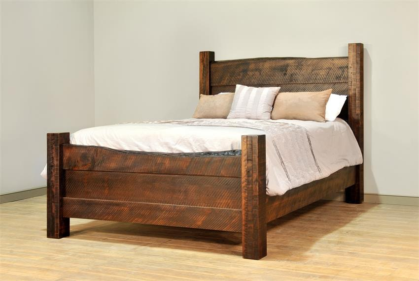 Ruff Sawn Bedroom Live Edge Bed LEQNBD At High Country Furniture U0026 Design