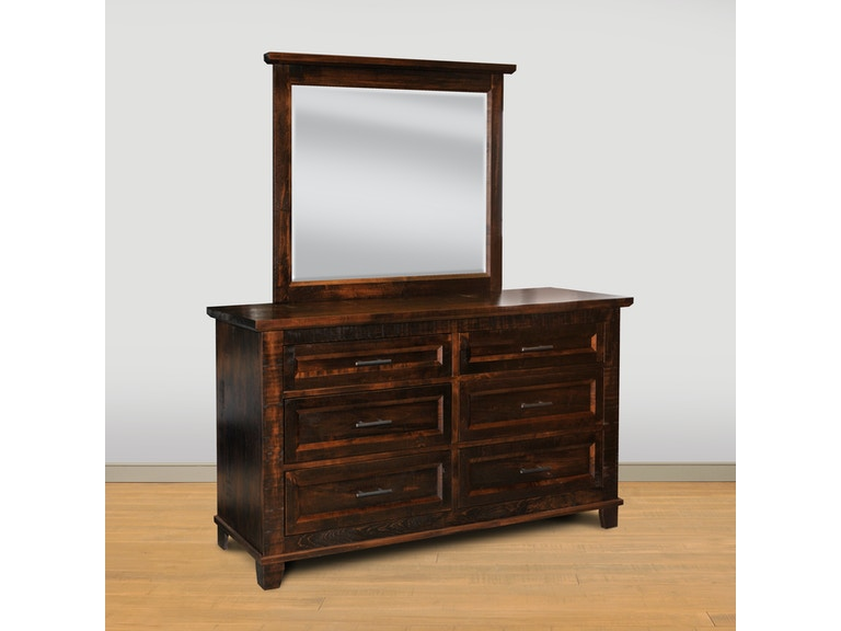 Ruff Sawn Rustic Algonquin Dresser Mirror S A9w