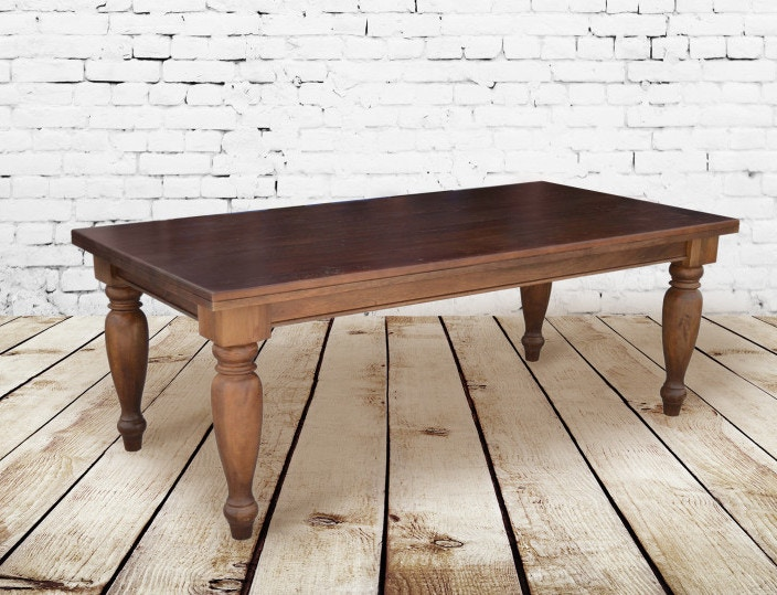 Alder And Tweed Dark Chestnut Sonoma Dining Table AT8910 DCH
