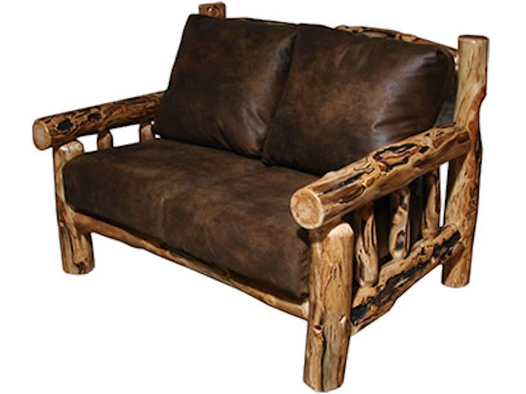 Rustic Log Living Room Timber Frame (Love Seat) in Gnarly Log TFRA ...
