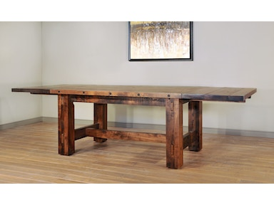 Ruff Sawn Timber Table w-leaves S TMB4272BB18