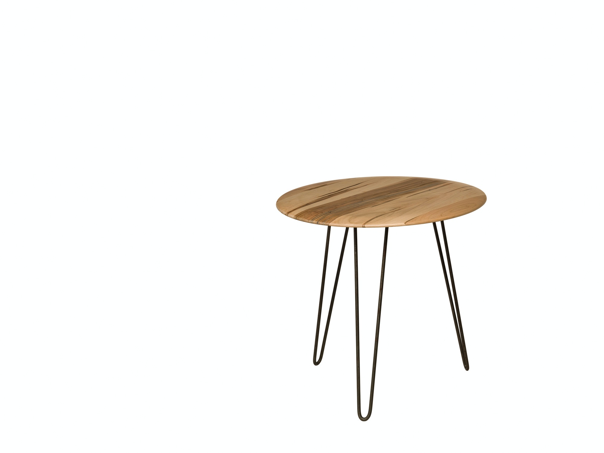Barkman Living Room Wormy Maple Round End Table Hairpin Legs 5020 0101ET At High  Country Furniture U0026 Design