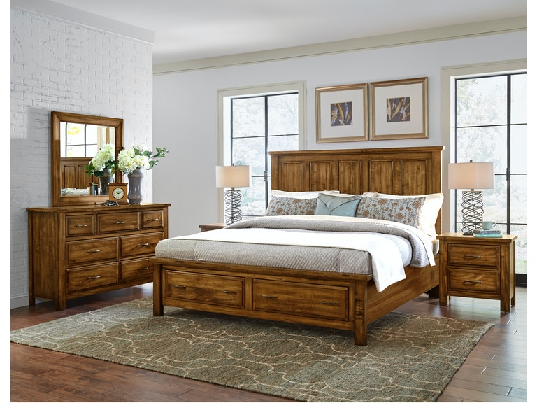 Artisan & Post Maple Road - Antique Amish Panel Storage Bed ALE-118A - Artisan & Post Bedroom Maple Road - Antique Amish Panel Storage Bed