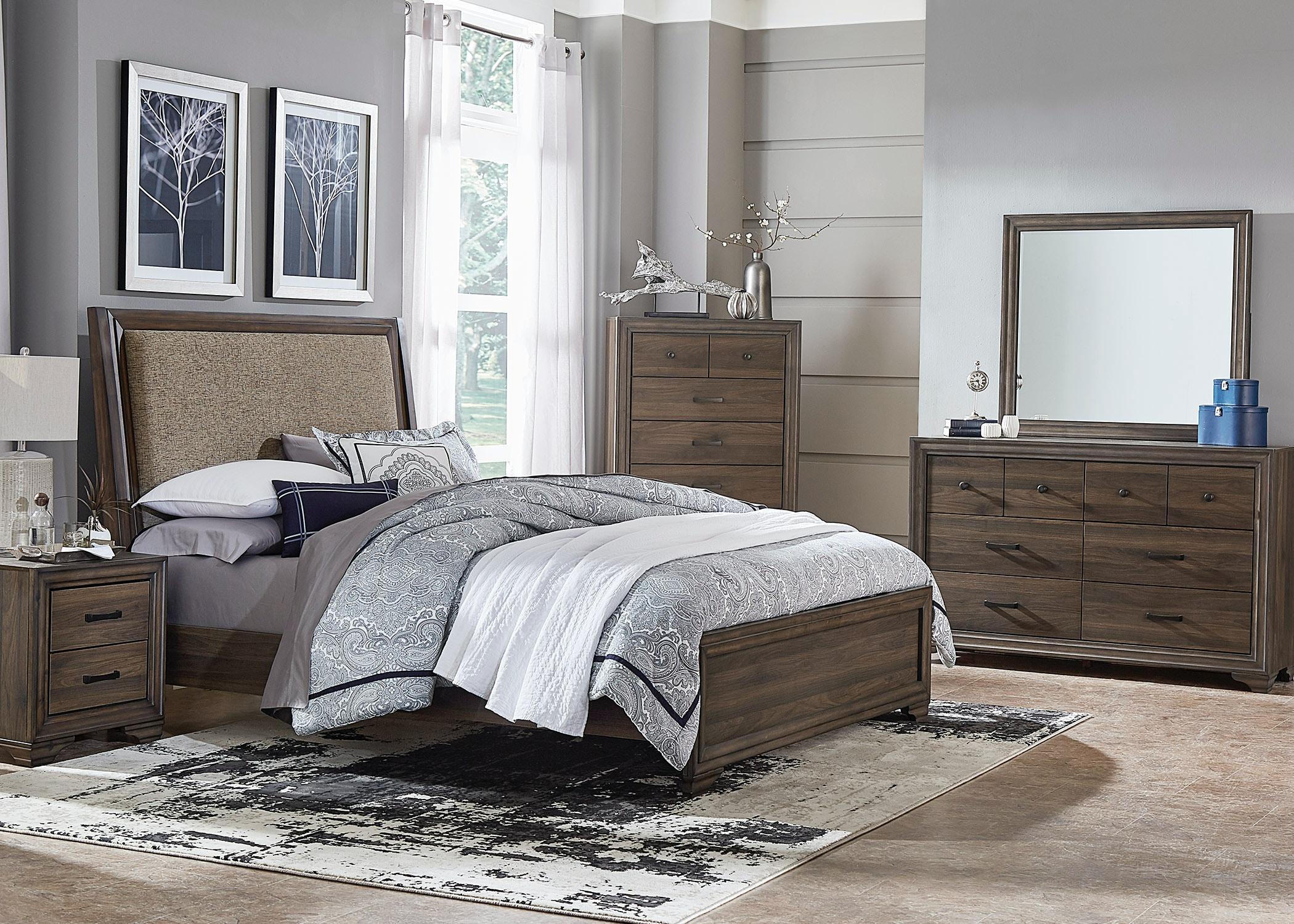 Liberty Furniture Clarksdale Upholstered Bed 445 BR QUBDMCN