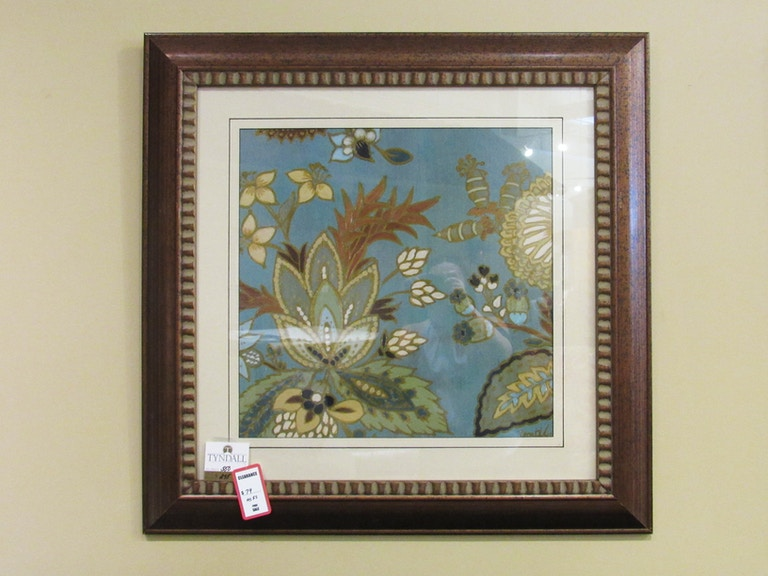 Clearance Living Room European Floral Teal Framed Wall Art - Tyndall ...