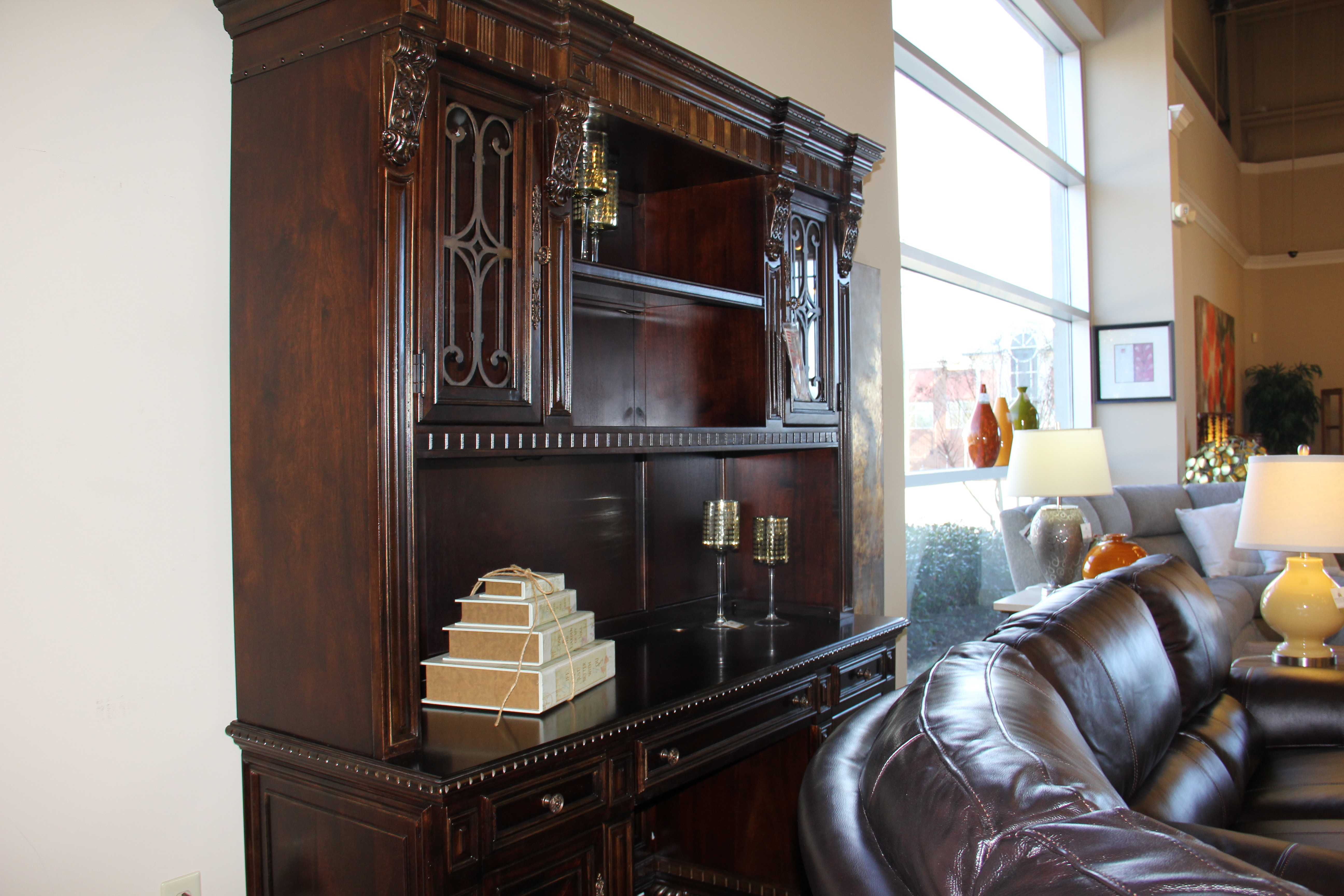 Clearance Home Office Office Credenza Hutch At Tyndall Furniture U0026 Mattress