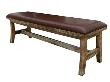 Outlet Breakfast Bench with Leather Seat 194260