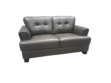 Finesse Modern Martine Loveseat - Dark Grey Leather 400770