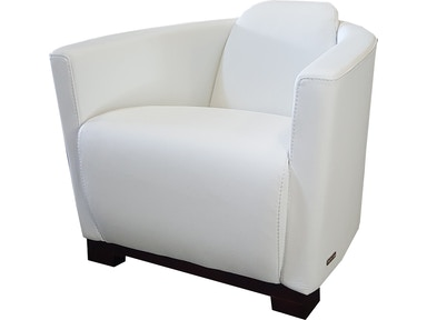 Finesse Modern Hotel Chair - Nature White 100% Leather 424820