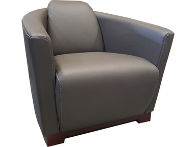 Finesse Modern Hotel Chair - Grey 100% Leather 424860
