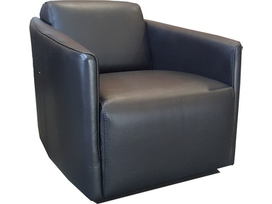 Finesse Modern Milano Chair - Nero 100% Leather 424910