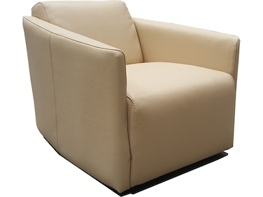 Finesse Modern Milano Chair - Khaki 100% Leather 425290