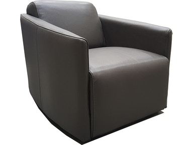 Finesse Modern Milano Chair - Grey 100% Leather 425330