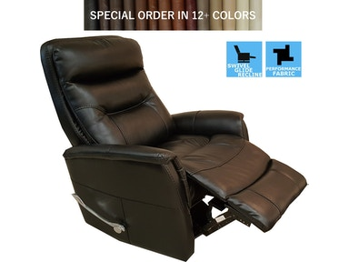 Finesse Motion Benjamin Swivel Recliner - Black Bolero 340480