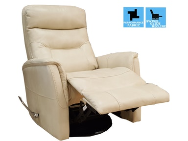 Finesse Motion Benjamin Swivel Recliner - Oyster 340460
