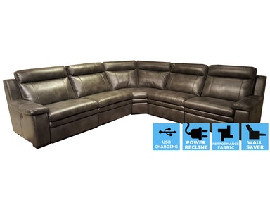 Finesse Motion Brant 6 PC Power Motion Sectional (one additional seat) CLEARANCE PRICED PSEC9916