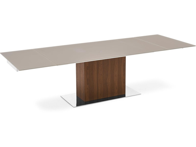 Finesse Modern Park Glass Extending Dining Table