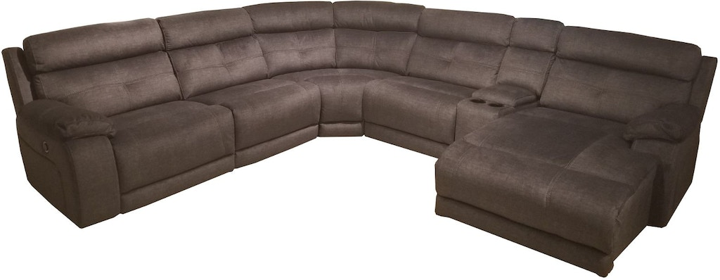 Finesse Motion Living Room Francis 6 Pc Power Recline Sectional