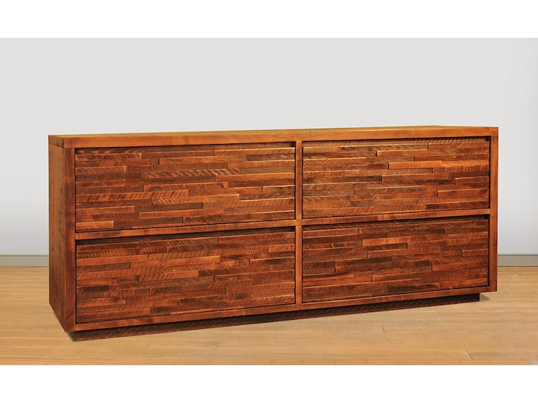 Ruffsawn Ledgerock 6 Drawer Dresser Lerodress