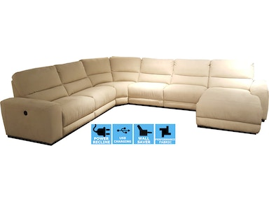 Finesse Motion Perugia 6PC Power Motion Sectional PPERUGIA