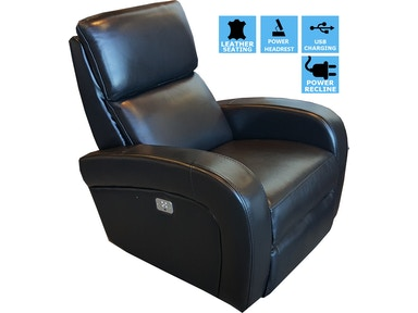 Finesse Motion Proto Power Recliner - Black Leather 340970