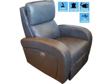 Finesse Motion Proto Power Recliner - Grey Leather CLEARANCE PRICING 340980