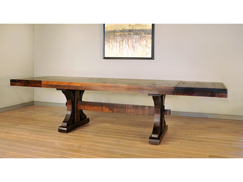Ruffsawn Dining Room Rustic Carlisle Dining Table With 2