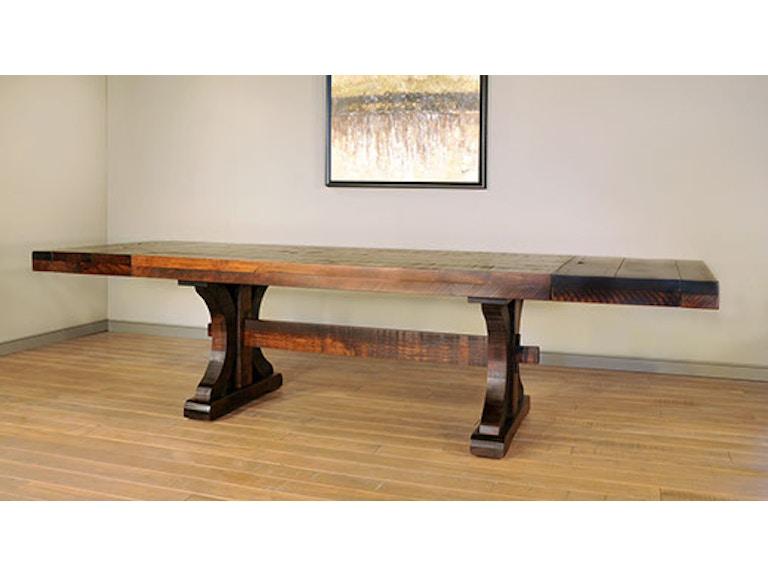 Ruffsawn Dining Room Rustic Carlisle Dining Table With End - Carlisle dining table