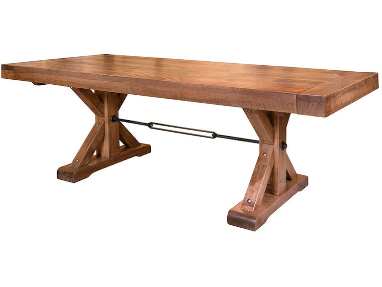 Ruffsawn S Turnbuckle Dining Table With 2 18 Leaves Shtutable