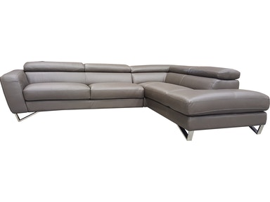 Finesse Modern SPARTA 2 PC Sectional - 100% Leather PSPARTA