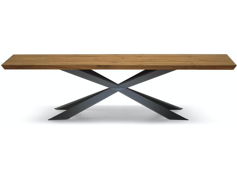 Finesse Modern Spyder Wood Top Dining Table