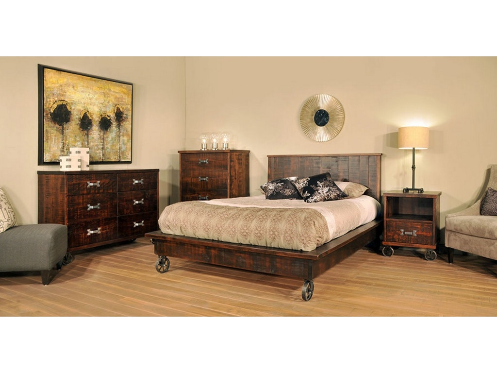 Ruffsawn Bedroom Steam Punk Bed Solid Maple Made In Canada Finesse Furniture Interiors