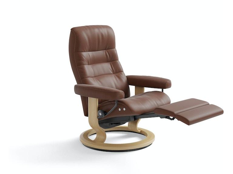 Living Room Stressless Opal Leg Comfort Recliner Finesse