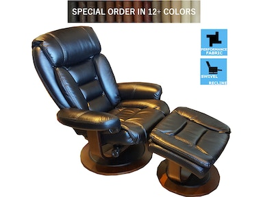 Finesse Motion Tandy Euro Recliner & Otto - Black Bolero 340670