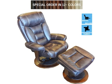 Finesse Motion Tandy Euro Recliner & Otto - Coffee Bolero 340740