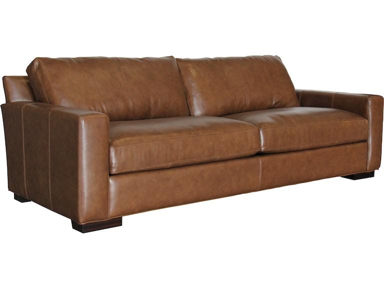 Hudson Teagan Sofa Caramel 100 Leather 459890