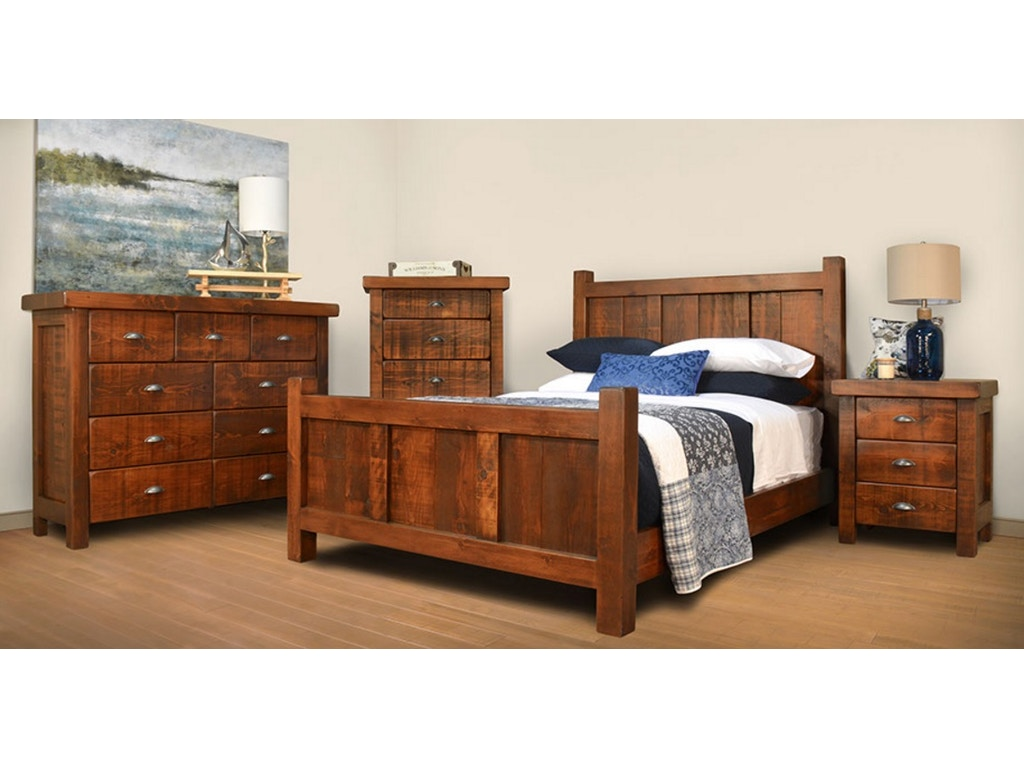 Ruffsawn Bedroom Timber King Bed Solid Maple Made In Canada Threshing Finesse Furniture