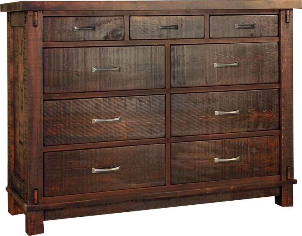 Ruffsawn Bedroom Timber 9 Mule Dresser Chest Solid Maple Made In Canada Timbdress Finesse