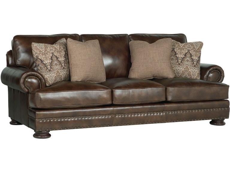 Bernhardt Living Room Foster Leather Sofa LTSOBE5377A - American ...