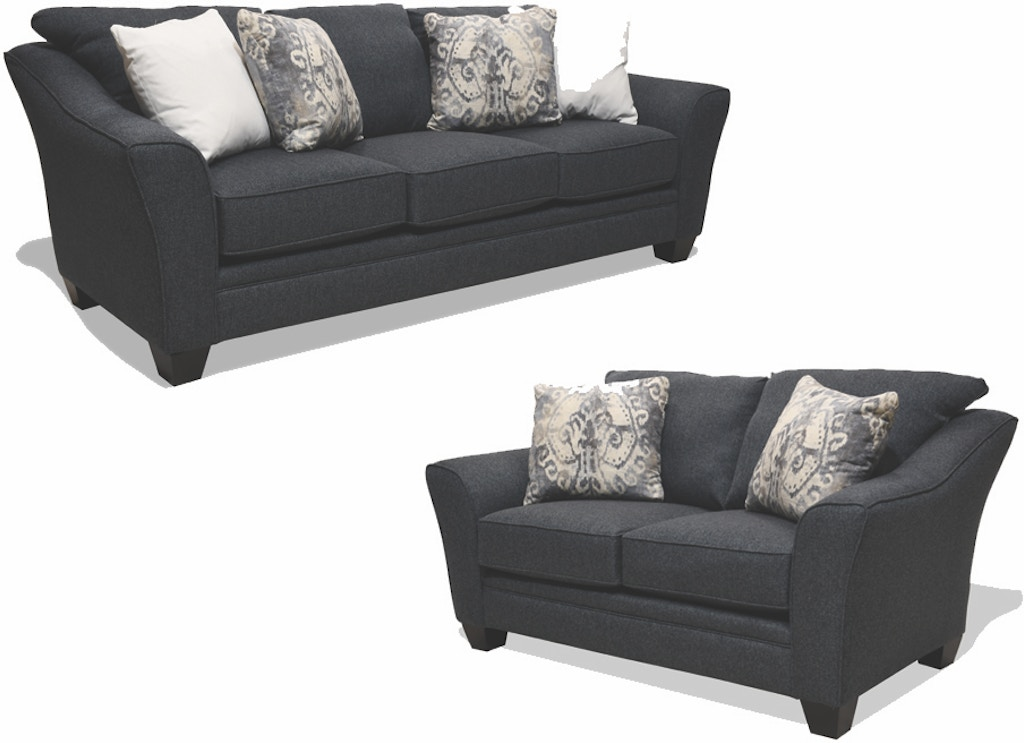 Amanda Blue Sofa and Loveseat