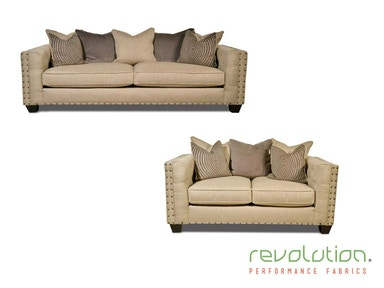 Caprice Sofa and Loveseat