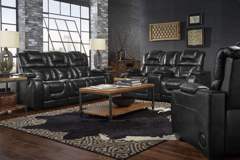 Corinthian Living Room Casabella Reclining Sofa Loveseat and Recliner