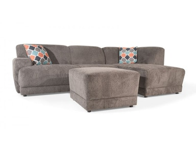 Cole Two Piece Sectional and Ottoman